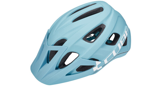 Cube Am Race Helmet iceblue'n'white